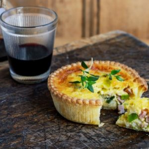 Leek Bacon Frozen Quiches