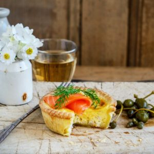Salmon quiches