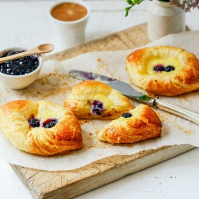 """Ready To Bake"" <br>Blueberry  Danish <br>(6 petits)"