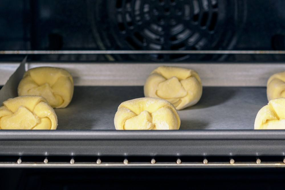 croissants ready to rise