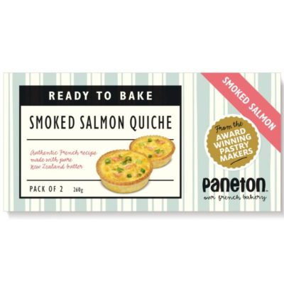 """Ready To Bake"" <br>Salmon Quiches <br>(2 pack)"
