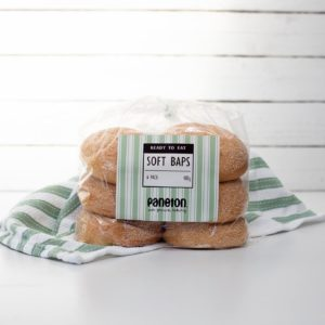 """""""Ready To Eat"""" <br> Plain Baps<br> (pack of 6)"""