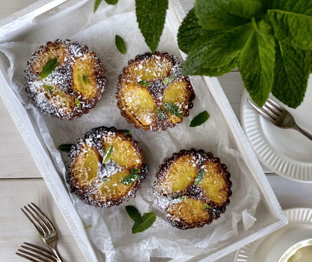 pineapple coconut frangipane tart