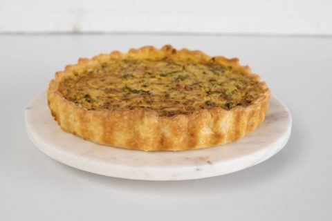 yellow green courgettes tart