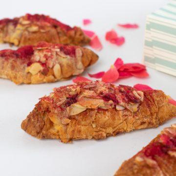 raspberry almond croissant 6 petits