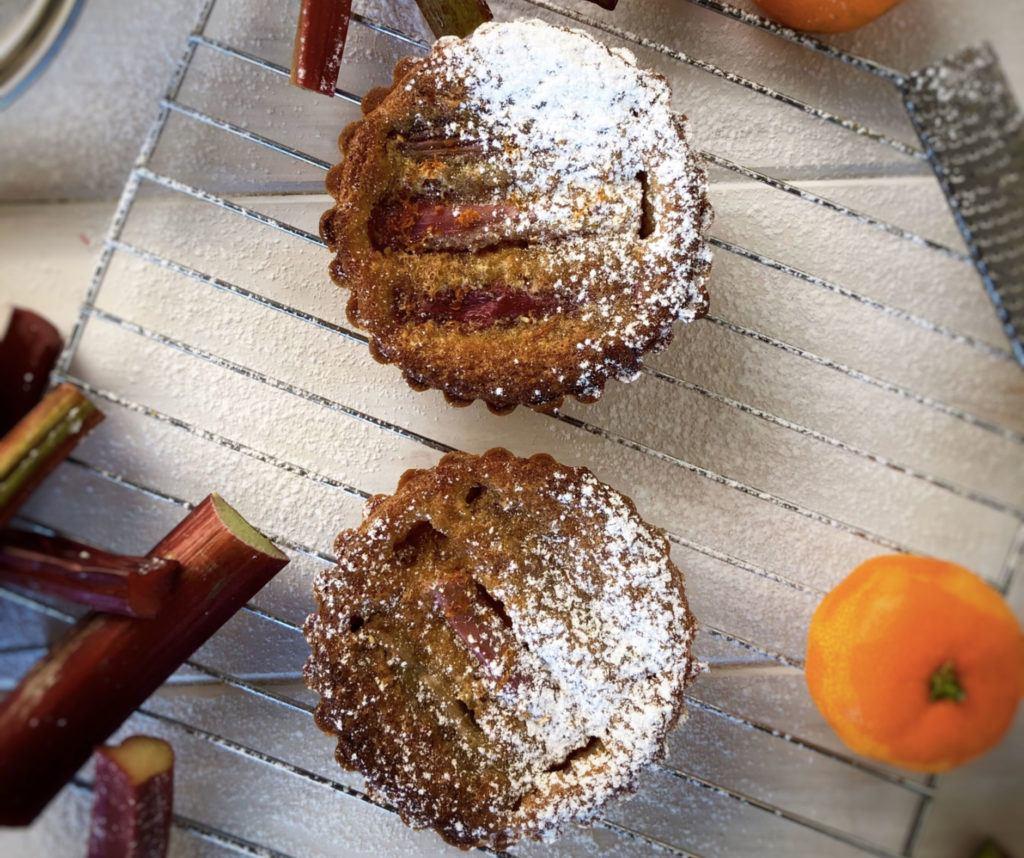 rhubarb frangipane tarts